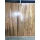 NEWLY FINISHED SOLID TIMBER BLACKBUTT ON WALL