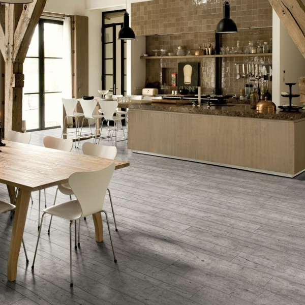 Light grey bamboo flooring light grey impressive laminate for Quick step flooring lowes